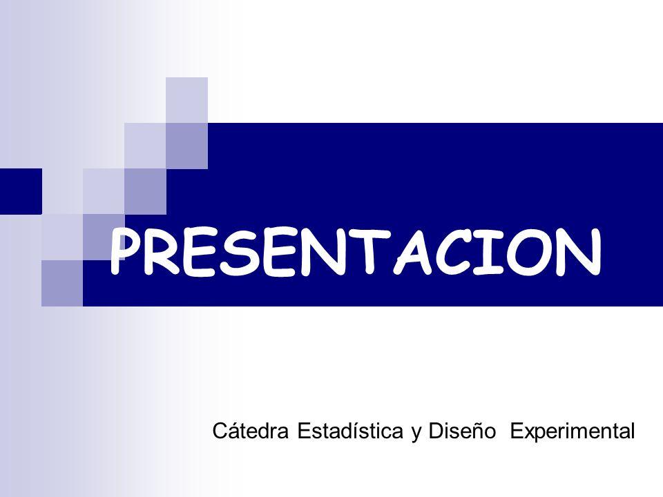 Cátedra Estadística y Diseño Experimental