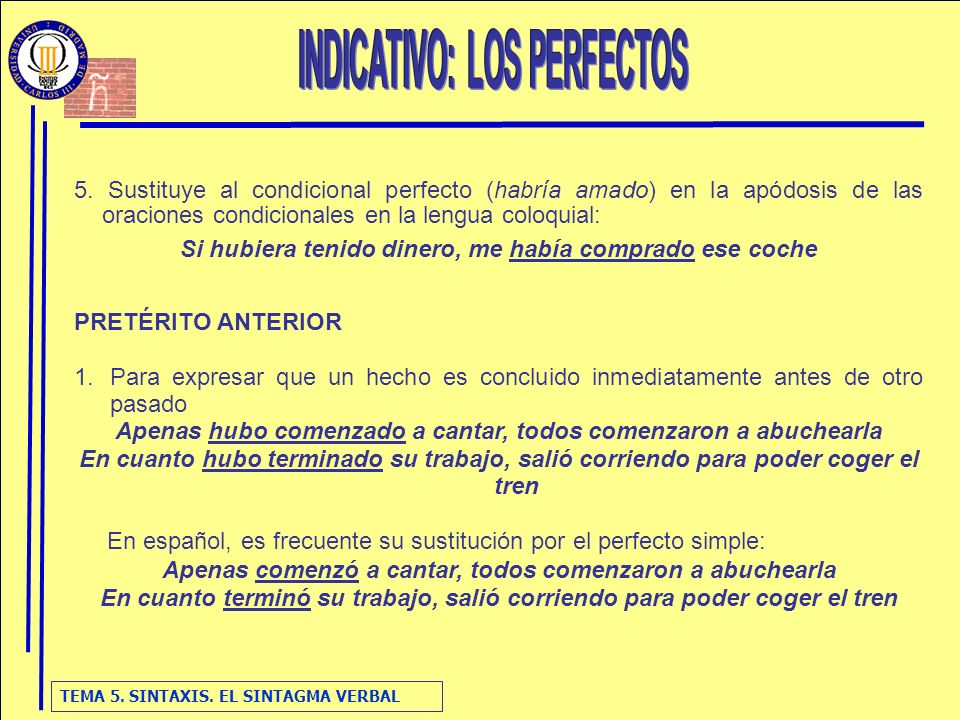 INDICATIVO: LOS PERFECTOS