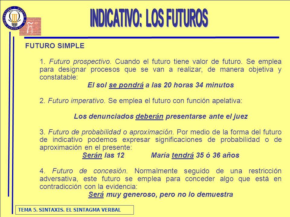 INDICATIVO: LOS FUTUROS