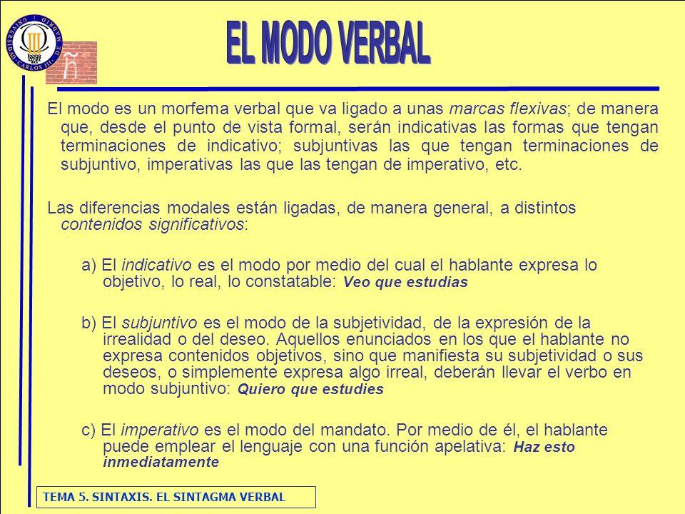 EL MODO VERBAL