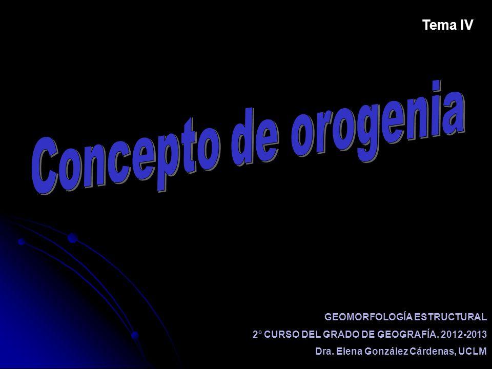 Concepto de orogenia Tema IV GEOMORFOLOGÍA ESTRUCTURAL