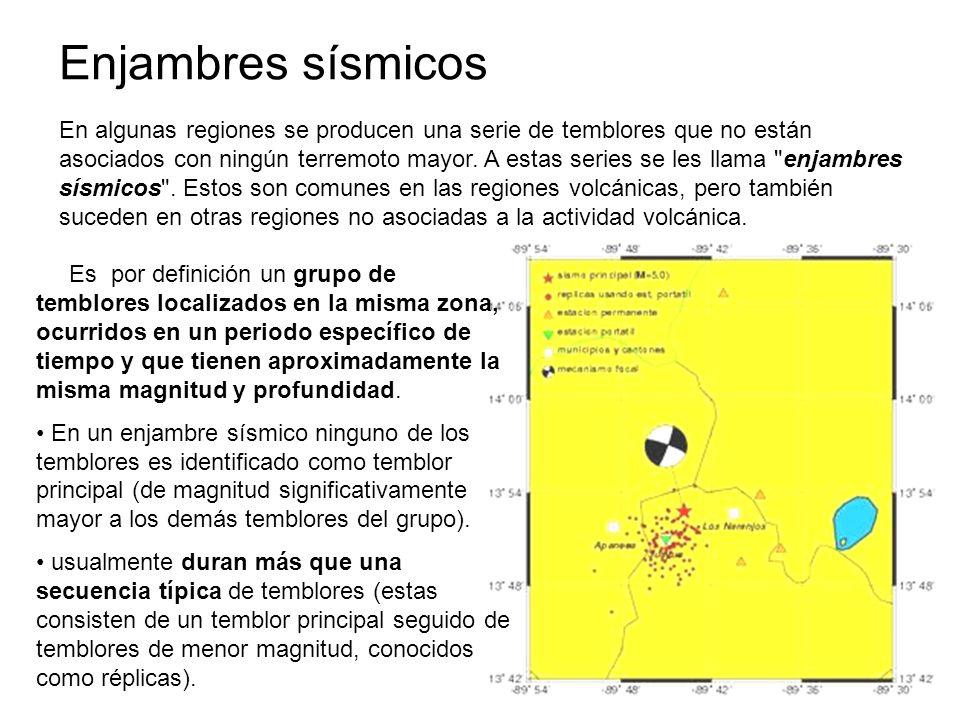 Enjambres sísmicos