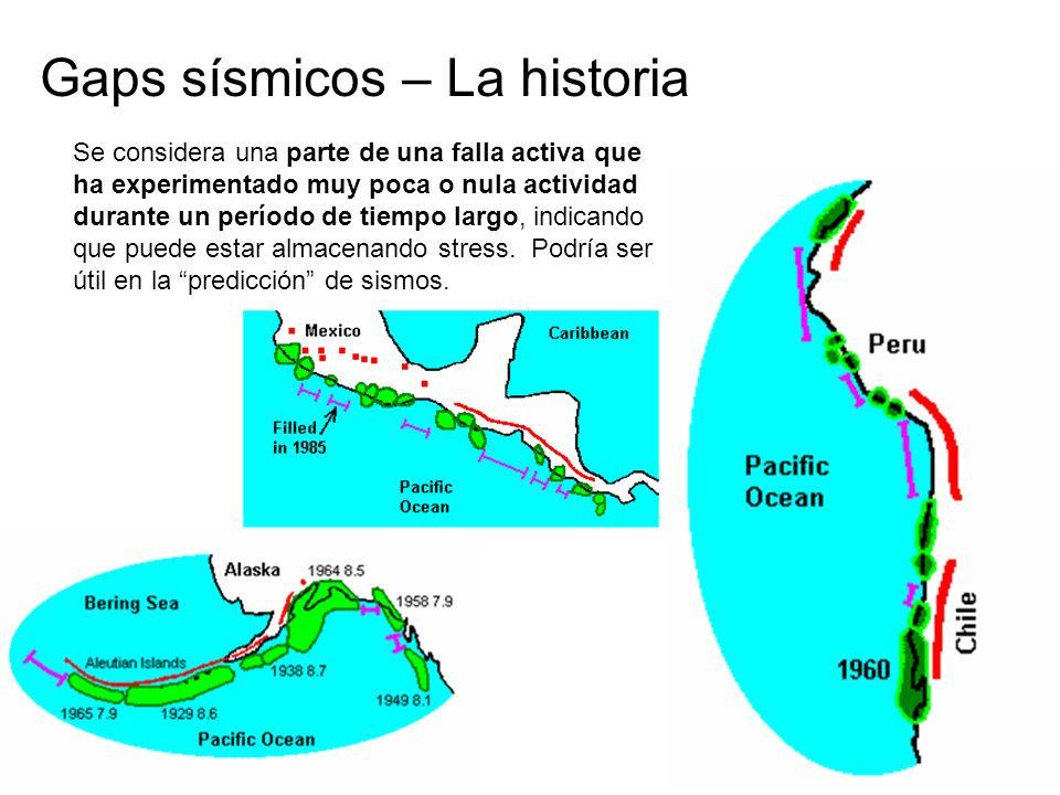 Gaps sísmicos – La historia