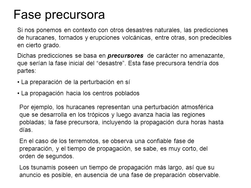 Fase precursora