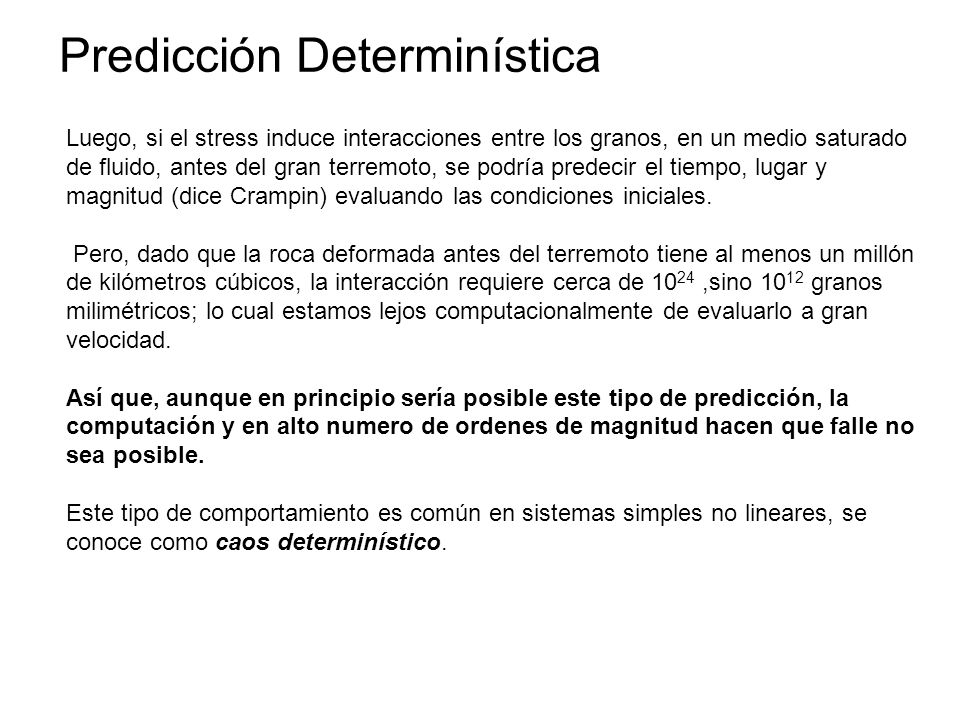 Predicción Determinística
