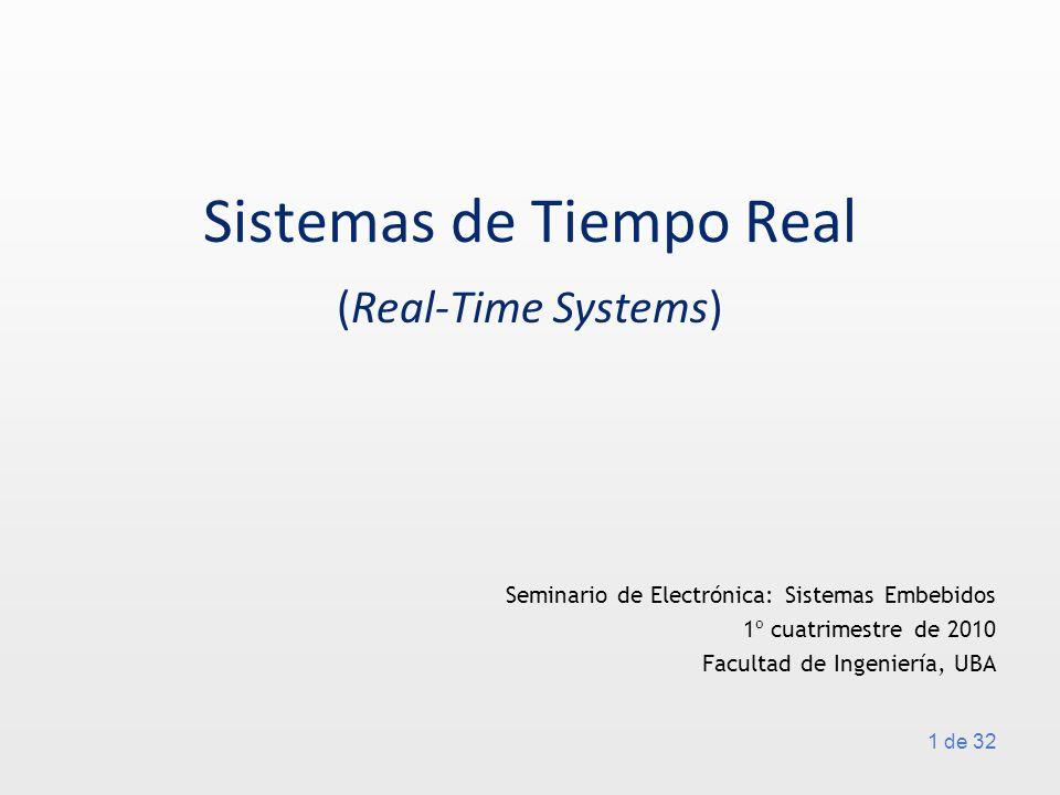 Sistemas de Tiempo Real (Real-Time Systems)