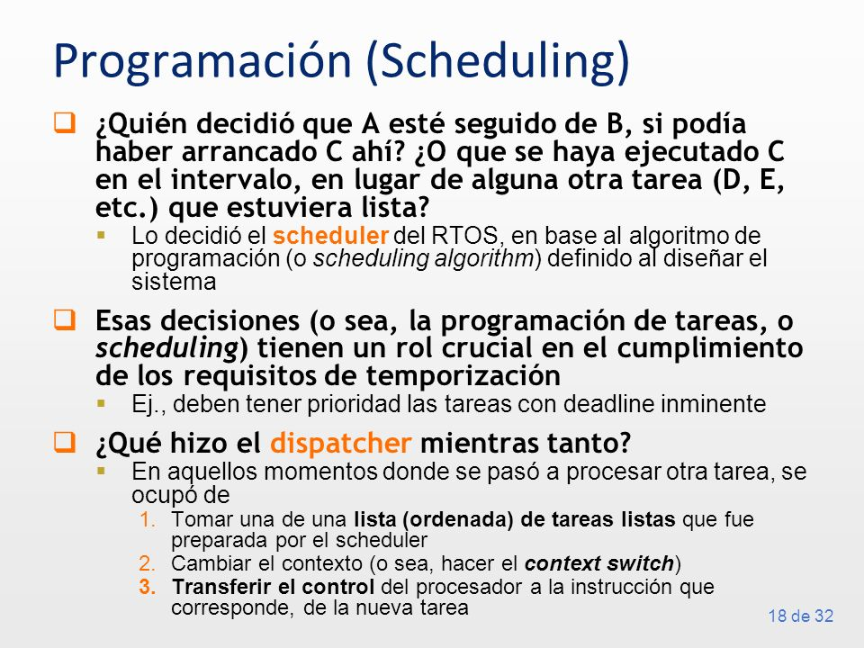 Programación (Scheduling)