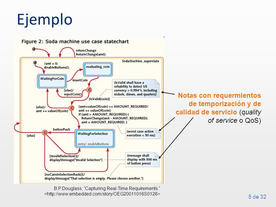 Ejemplo Notas con requermientos de temporización y de calidad de servicio (quality of service o QoS)