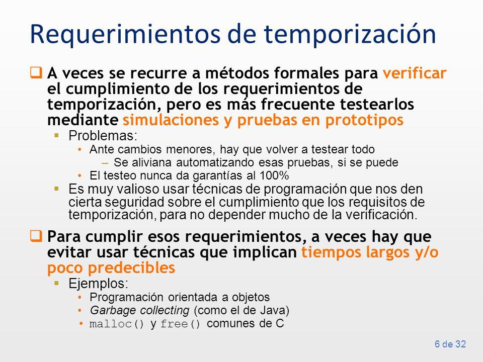 Requerimientos de temporización
