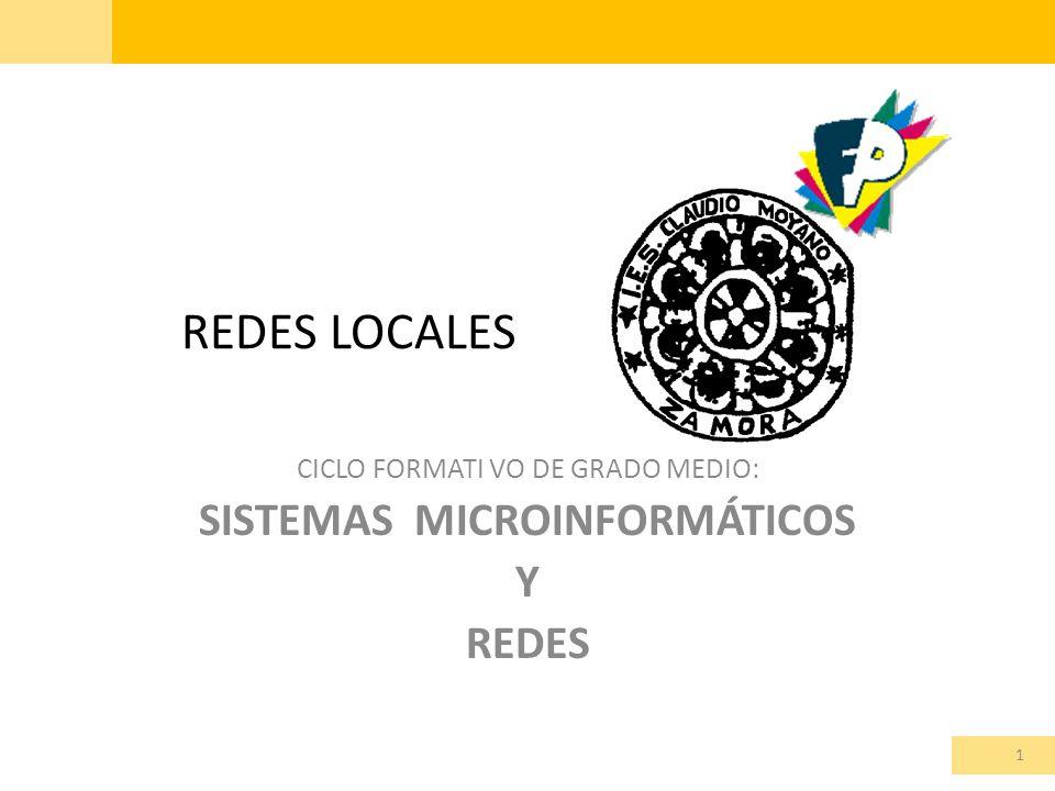 CICLO FORMATI VO DE GRADO MEDIO: SISTEMAS MICROINFORMÁTICOS Y REDES