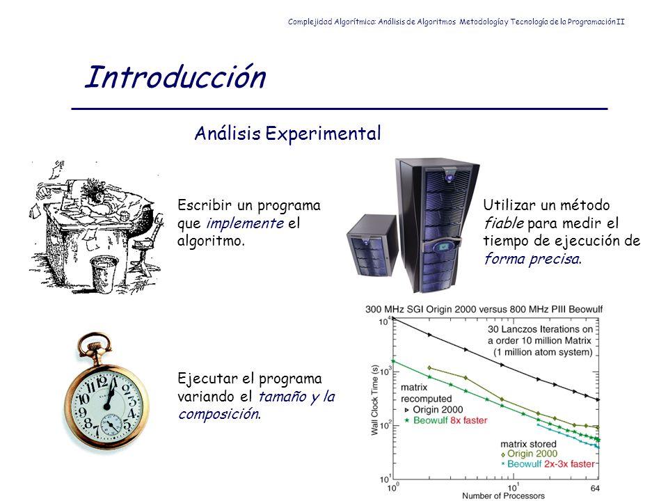 Introducción Análisis Experimental