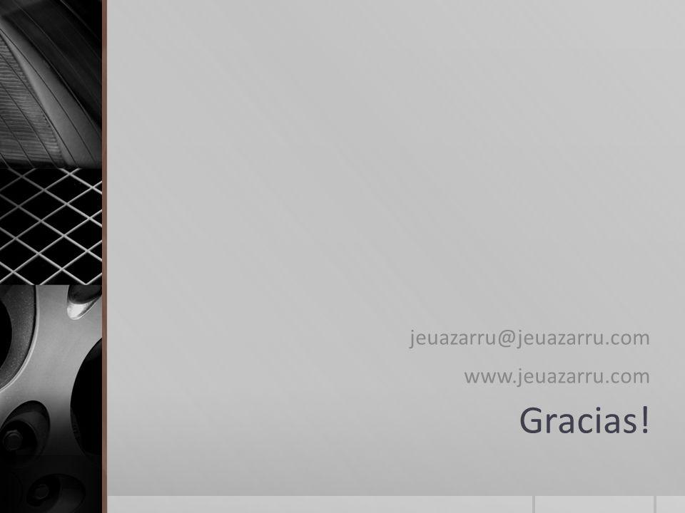 jeuazarru@jeuazarru.com www.jeuazarru.com Gracias!