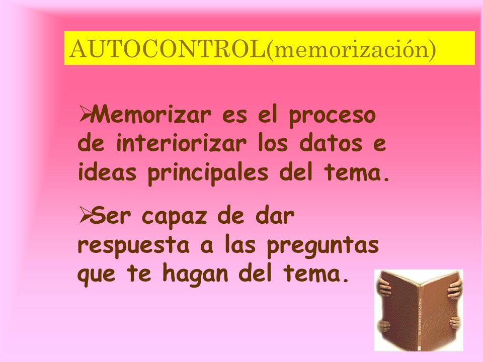 AUTOCONTROL(memorización)
