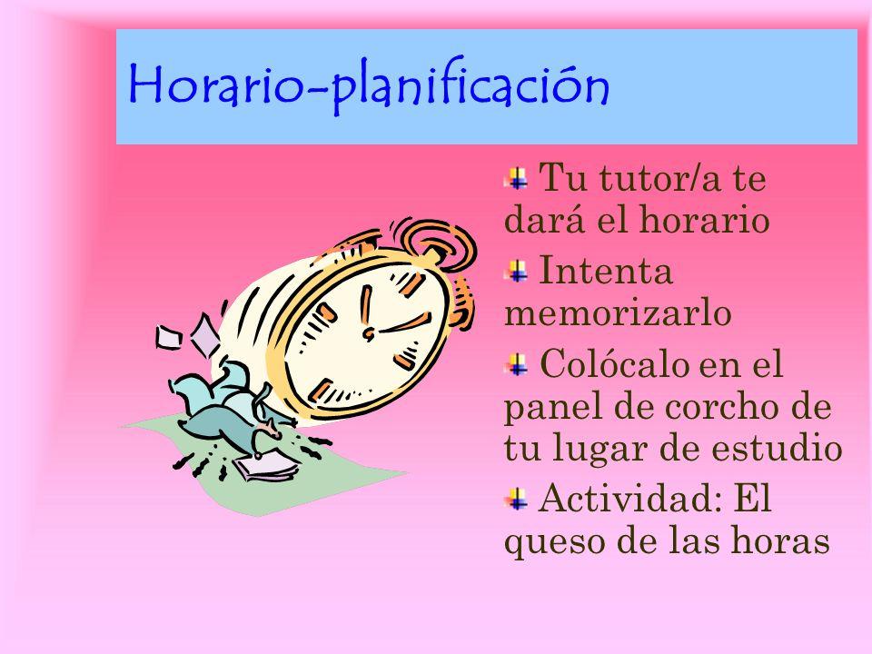 Horario-planificación