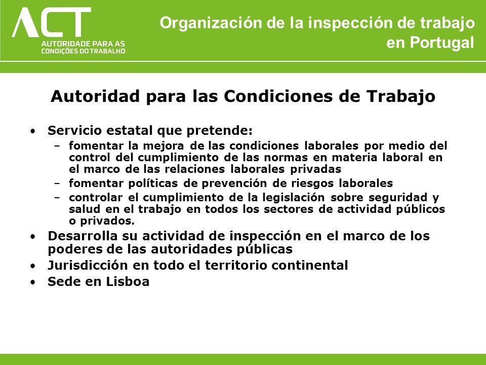 Organización de la inspección de trabajo en Portugal