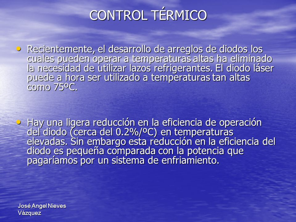 CONTROL TÉRMICO