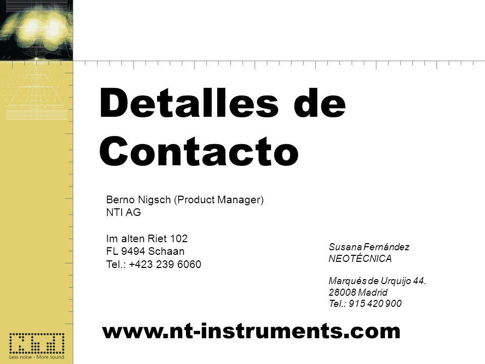 Detalles de Contacto www.nt-instruments.com