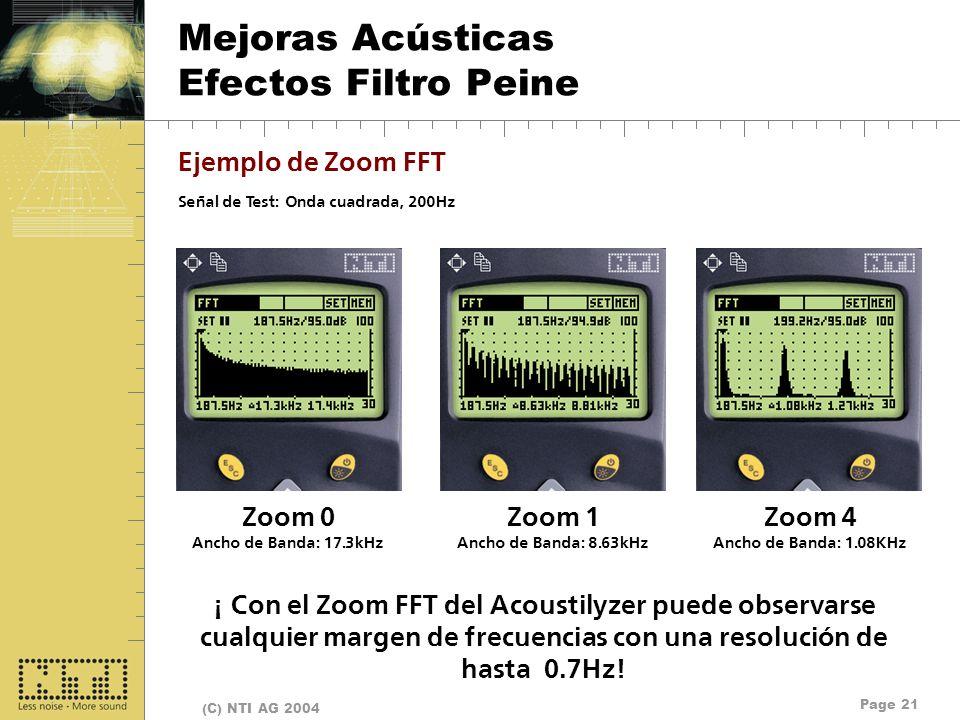 Mejoras Acústicas Efectos Filtro Peine