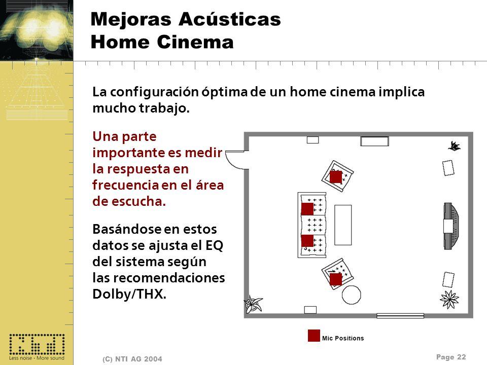 Mejoras Acústicas Home Cinema
