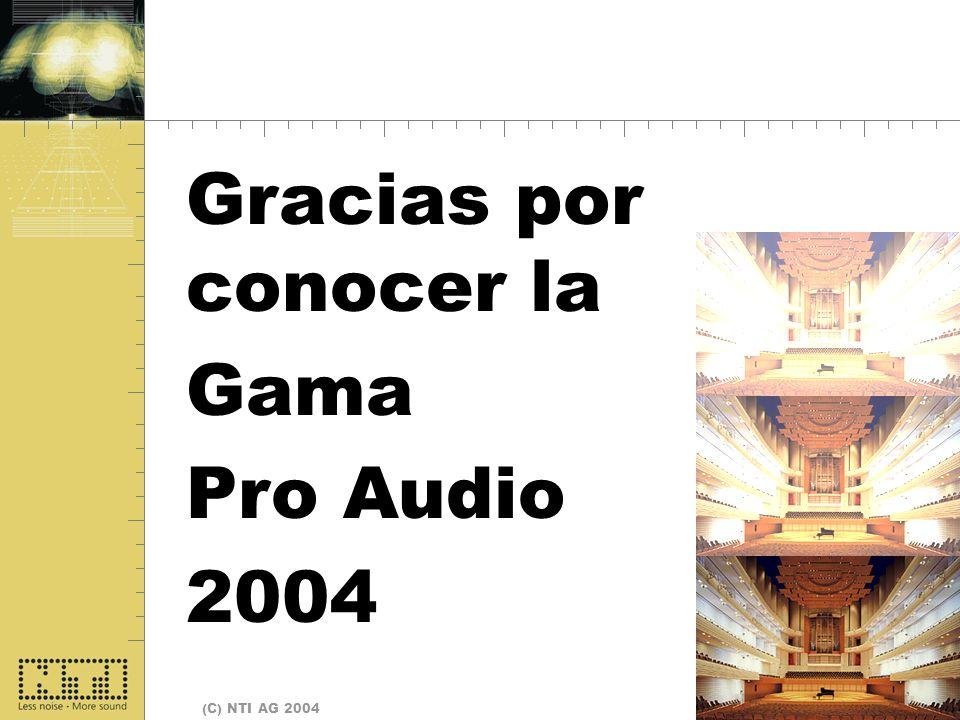 Fine Gracias por conocer la Gama Pro Audio 2004