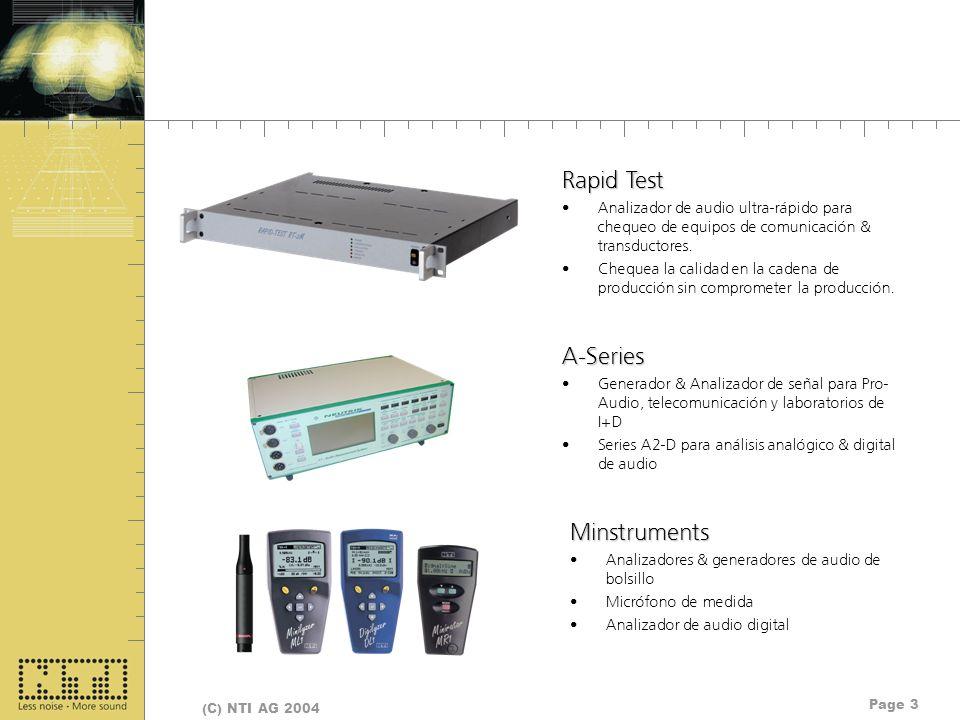 Rapid Test A-Series Minstruments