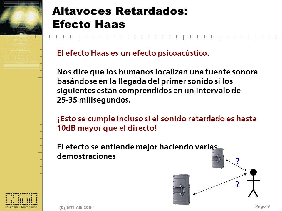 Altavoces Retardados: Efecto Haas