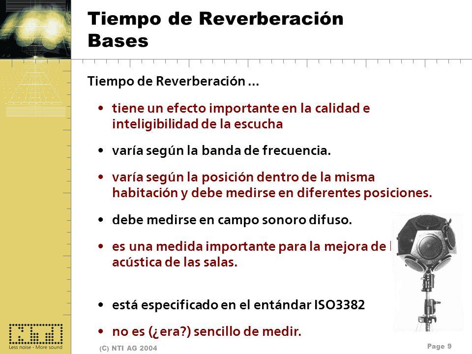 Tiempo de Reverberación Bases