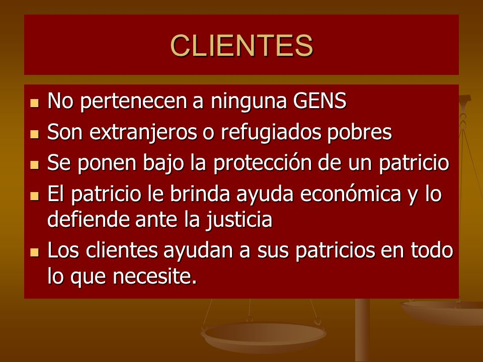 CLIENTES No pertenecen a ninguna GENS