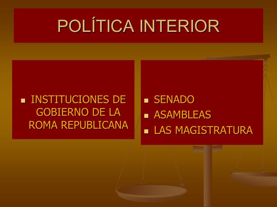 INSTITUCIONES DE GOBIERNO DE LA ROMA REPUBLICANA