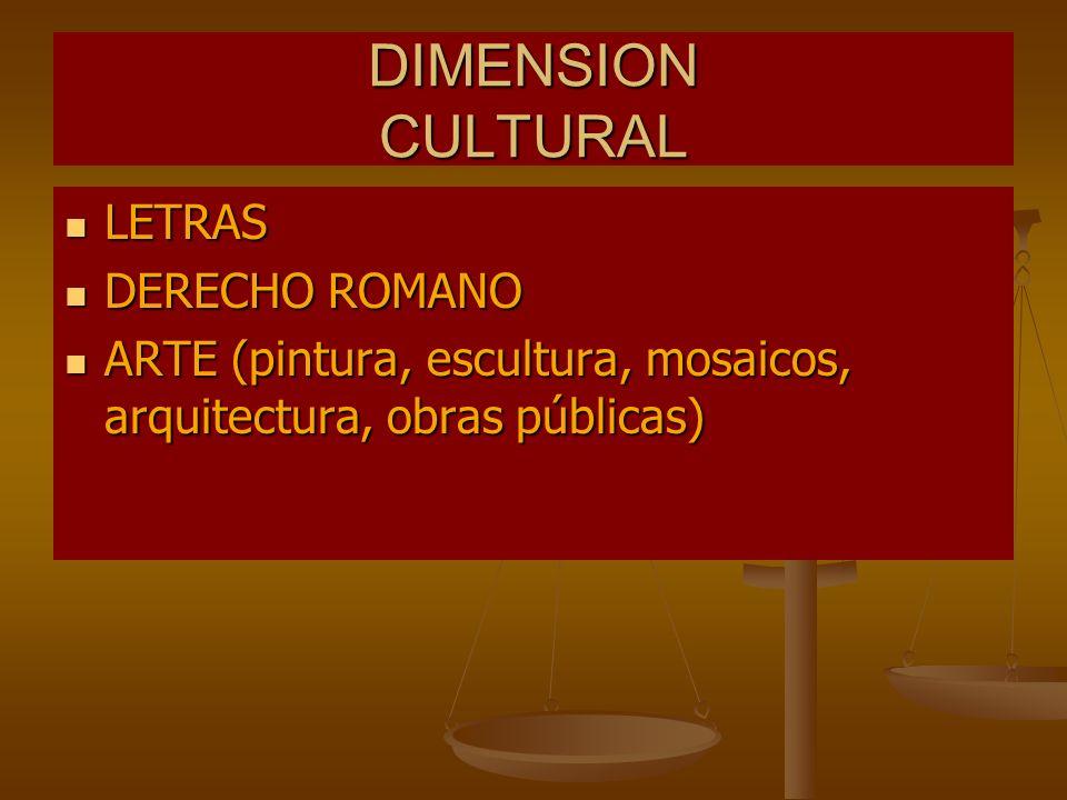 DIMENSION CULTURAL LETRAS DERECHO ROMANO