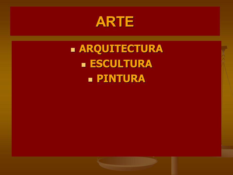 ARTE ARQUITECTURA ESCULTURA PINTURA