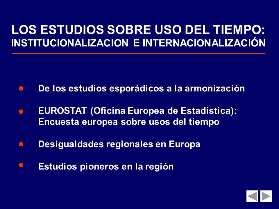 LOS ESTUDIOS SOBRE USO DEL TIEMPO: INSTITUCIONALIZACION E INTERNACIONALIZACIÓN