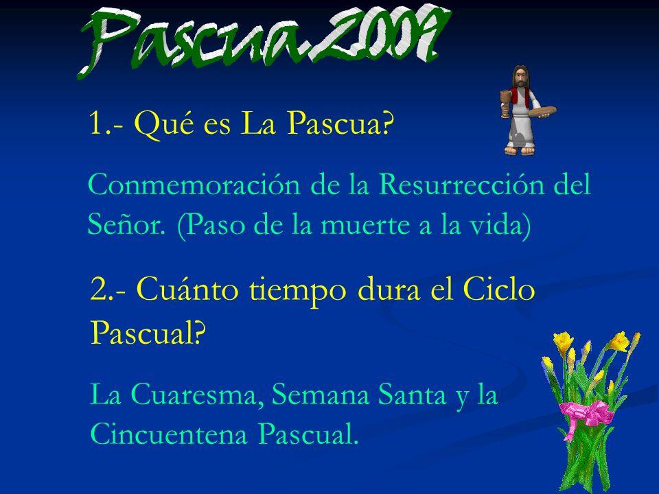 2.- Cuánto tiempo dura el Ciclo Pascual