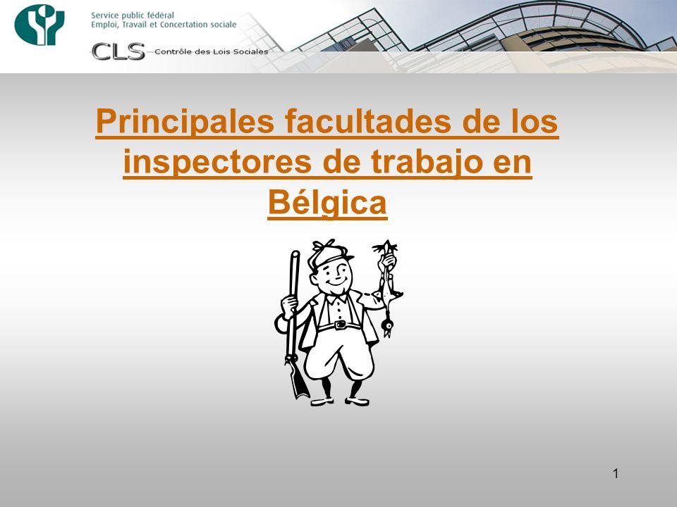 Principales facultades de los inspectores de trabajo en Bélgica
