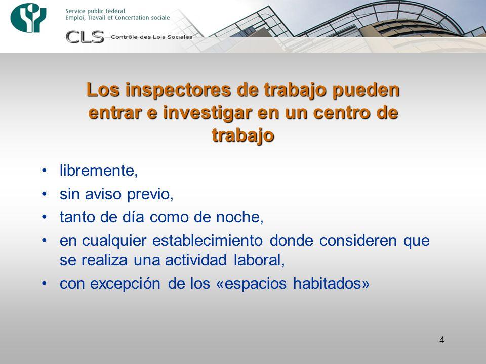 Los inspectores de trabajo pueden entrar e investigar en un centro de trabajo