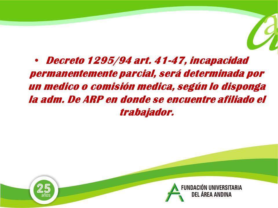 Decreto 1295/94 art.