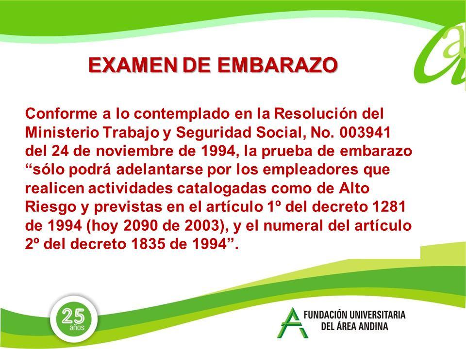 EXAMEN DE EMBARAZO