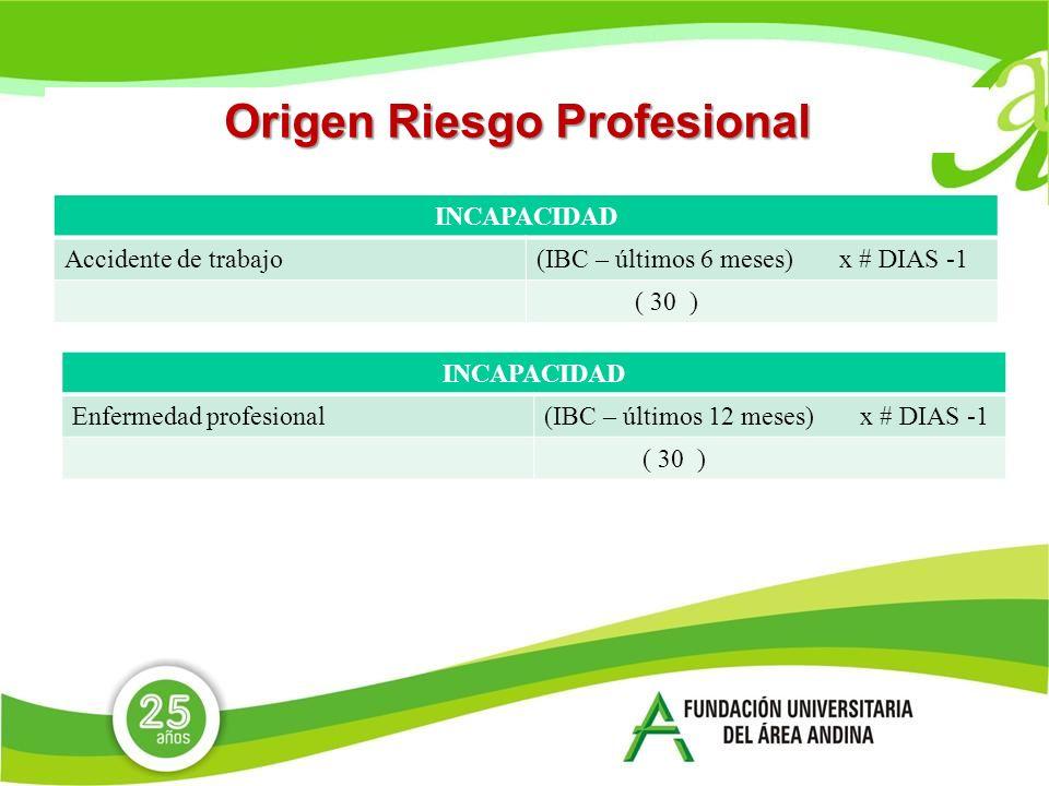 Origen Riesgo Profesional