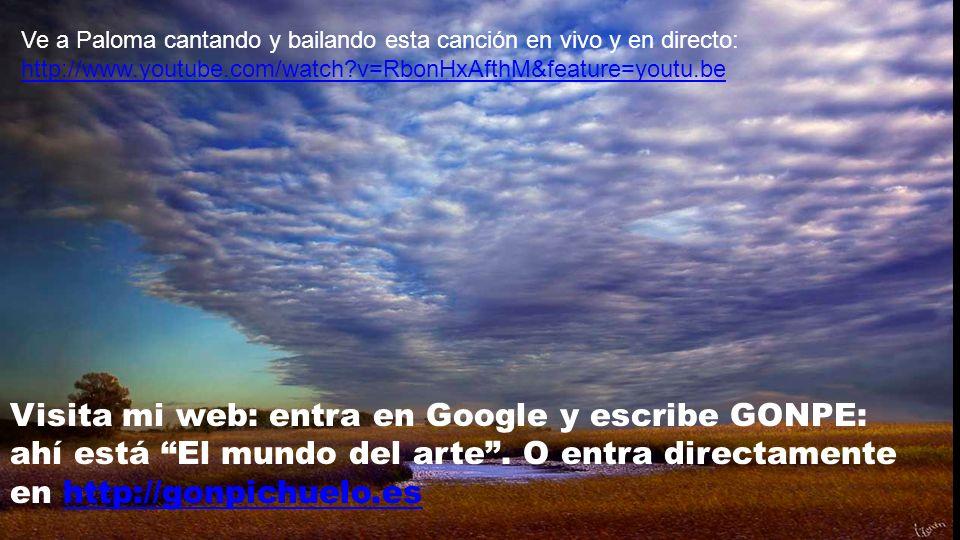 Visita mi web: entra en Google y escribe GONPE: