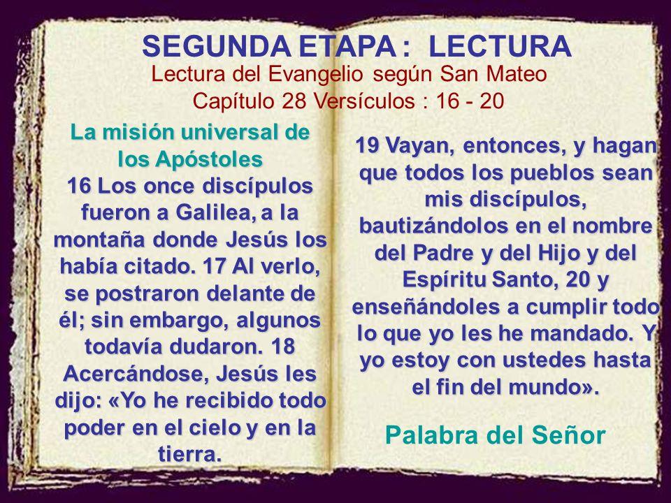 La misión universal de los Apóstoles