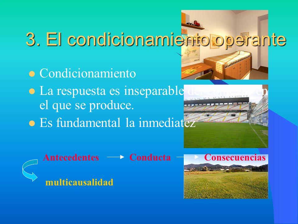 3. El condicionamiento operante