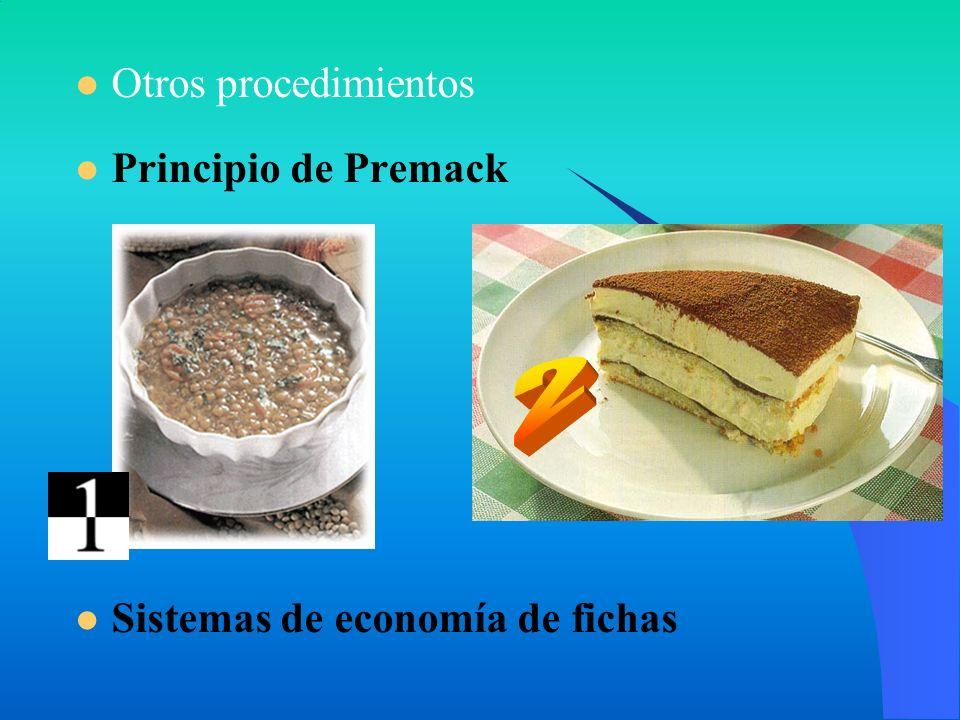 2 Otros procedimientos Principio de Premack