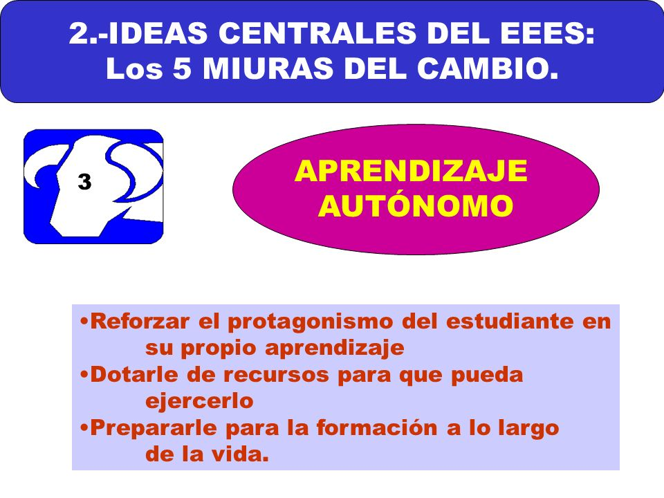 2.-IDEAS CENTRALES DEL EEES: