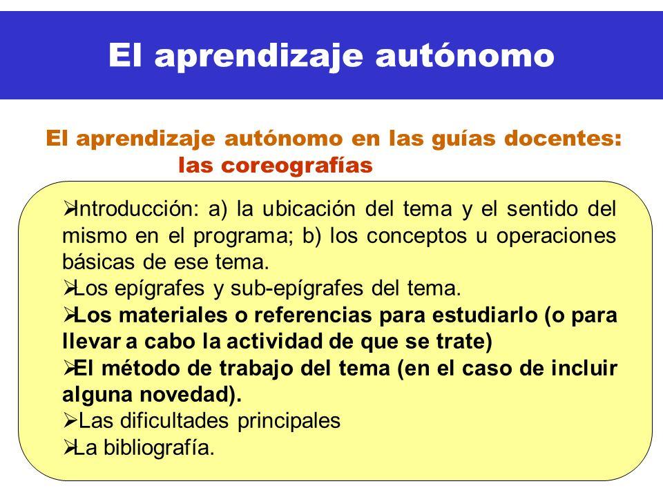 El aprendizaje autónomo