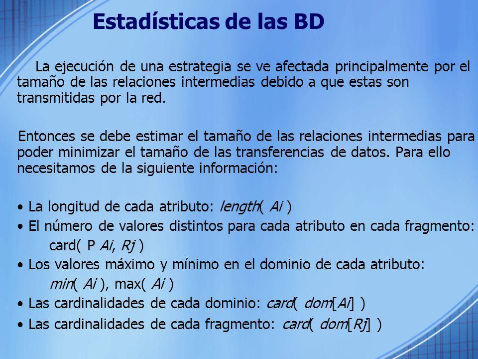 Estadísticas de las BD