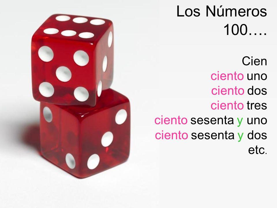 Los Números 100…. Cien.
