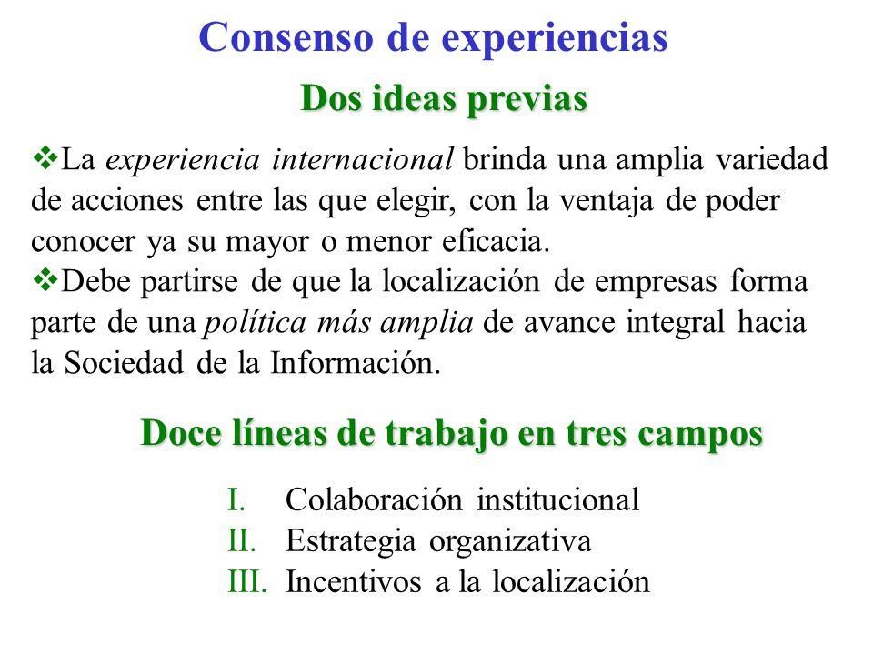 Consenso de experiencias