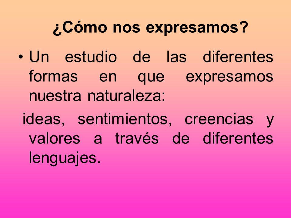 ¿Cómo nos expresamos Un estudio de las diferentes formas en que expresamos nuestra naturaleza: