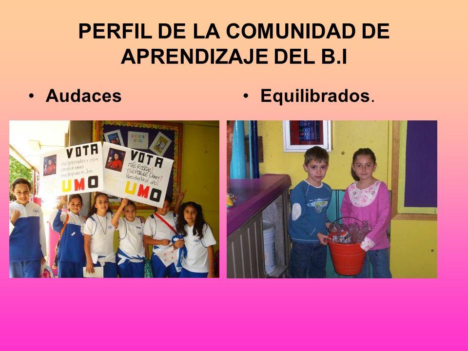 PERFIL DE LA COMUNIDAD DE APRENDIZAJE DEL B.I