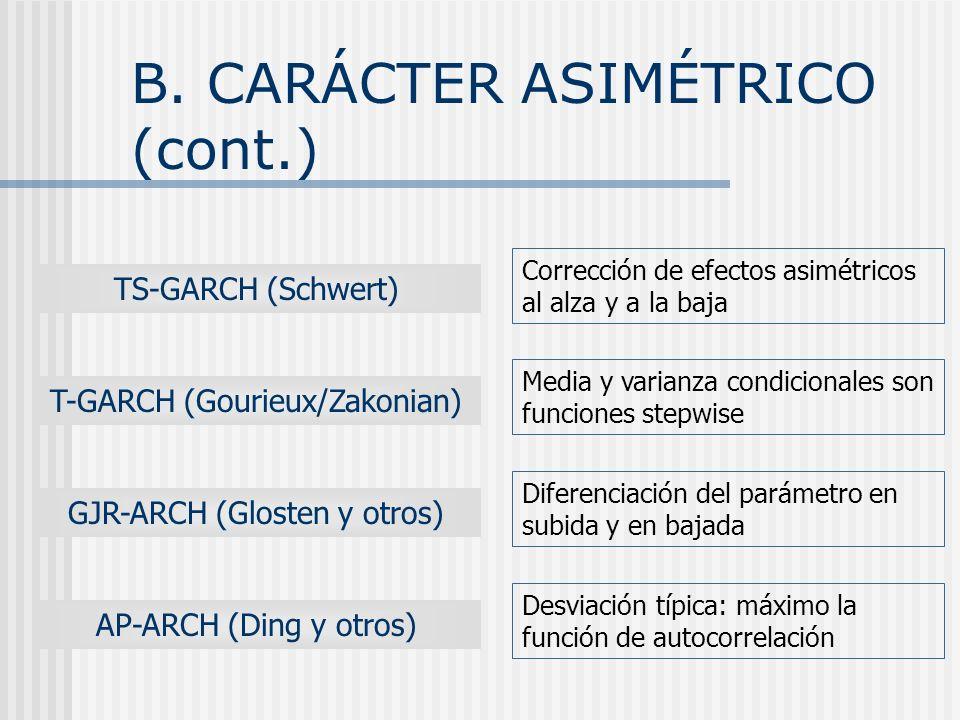 B. CARÁCTER ASIMÉTRICO (cont.)